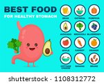best food for strong stomach... | Shutterstock . vector #1108312772