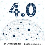 infographic icons of industry 4.... | Shutterstock .eps vector #1108326188