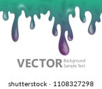 teal paint dripping vector... | Shutterstock .eps vector #1108327298
