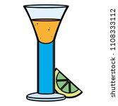colorful blanco tequila glass... | Shutterstock .eps vector #1108333112