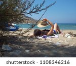 relax in galissas beach in... | Shutterstock . vector #1108346216