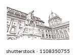landmark with building view of... | Shutterstock .eps vector #1108350755