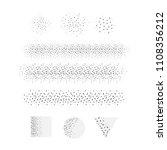 vector scatter stipple brushes... | Shutterstock .eps vector #1108356212