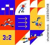 football template  vector flat... | Shutterstock .eps vector #1108356548