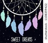 sweet dreams. vector... | Shutterstock .eps vector #1108359422