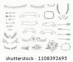hand drawn set of design... | Shutterstock .eps vector #1108392695