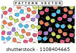 rainbow colored spectacles for... | Shutterstock .eps vector #1108404665
