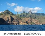 approaching ua pou island from... | Shutterstock . vector #1108409792