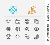 investment icons set.... | Shutterstock .eps vector #1108425452