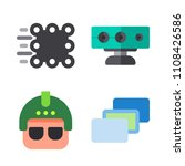 icons virtual reality with... | Shutterstock .eps vector #1108426586