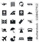 set of vector isolated black... | Shutterstock .eps vector #1108427912