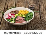 healthy dinner. buddha bowl... | Shutterstock . vector #1108432706