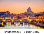 night view at st. peter's... | Shutterstock . vector #110843582