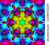 psychedelic background.... | Shutterstock . vector #1108453235