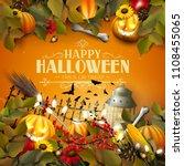 halloween template with...   Shutterstock .eps vector #1108455065