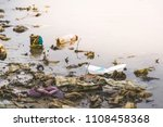 increasing of ocean  river ... | Shutterstock . vector #1108458368