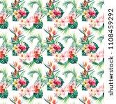 bright beautiful green floral... | Shutterstock . vector #1108459292