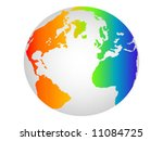 colorful world globe | Shutterstock .eps vector #11084725
