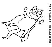 soaring into the sky cat in... | Shutterstock . vector #1108475012