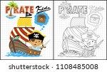 little pirate cartoon on...   Shutterstock .eps vector #1108485008