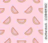 watermelon icon hot pink... | Shutterstock .eps vector #1108489382