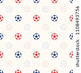 soccer ball seamless pattern... | Shutterstock .eps vector #1108493756