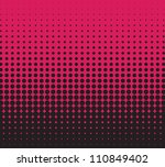 vector red halftone for... | Shutterstock .eps vector #110849402