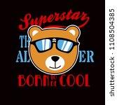 bear cool cartoon vector   Shutterstock .eps vector #1108504385