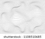 warped lines.wavy lines made...   Shutterstock . vector #1108510685