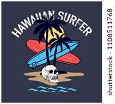hawaiian surfer graphic design... | Shutterstock .eps vector #1108511768