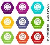 full time service icons 9 set... | Shutterstock .eps vector #1108519208