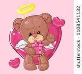 teddy bear. children character. ...   Shutterstock .eps vector #1108541132
