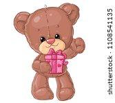 teddy bear. children character. ...   Shutterstock .eps vector #1108541135
