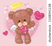 teddy bear. children character. ...   Shutterstock .eps vector #1108541138