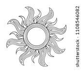 sun. engraved style sun... | Shutterstock .eps vector #1108546082