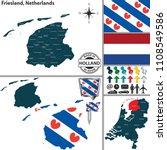 vector map of friesland region...   Shutterstock .eps vector #1108549586