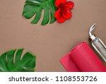yoga class concept  background... | Shutterstock . vector #1108553726