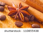aroma spice and coffee | Shutterstock . vector #110855438