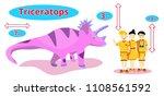 dinosaur triceratops.flat... | Shutterstock .eps vector #1108561592