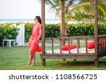 young beautiful woman relaxing... | Shutterstock . vector #1108566725
