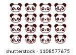 vector set of cute cartoon...   Shutterstock .eps vector #1108577675
