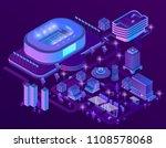 vector 3d isometric megapolis... | Shutterstock .eps vector #1108578068