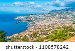 panoramic view over funchal ... | Shutterstock . vector #1108578242