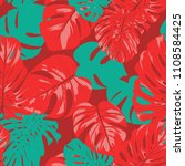 seamless tropical pattern with... | Shutterstock .eps vector #1108584425