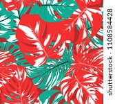 seamless tropical pattern with... | Shutterstock .eps vector #1108584428