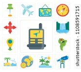 set of 13 simple editable icons ... | Shutterstock .eps vector #1108591715