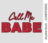 Call Me Babe Sequined Slogan...