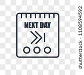 next day vector icon isolated... | Shutterstock .eps vector #1108594592