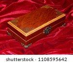 a handmade mahogany casket on...   Shutterstock . vector #1108595642