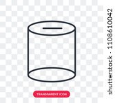 cylinder vector icon isolated... | Shutterstock .eps vector #1108610042